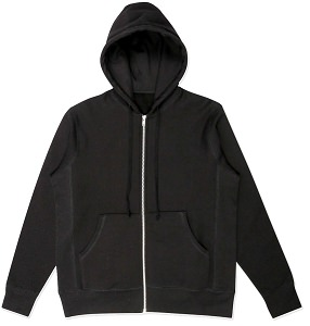 PRIVÉ Hooded Zipper Black 100% Cotton
