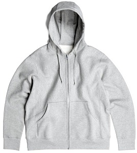 PRIVÉ Hooded Zipper Heather Grey 90% Cotton