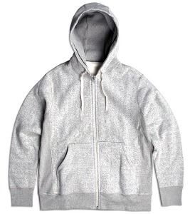 PRIVÉ Hooded Zipper Light Speckle 85% Cotton