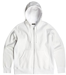 PRIVÉ Hooded Zipper White 100% Cotton