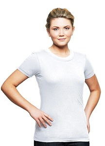 T-Shirt Ladies Short Sleeve 100% Cotton White