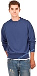 Crewneck Men's Fine French Terry Blue Jeans 100% Cotton