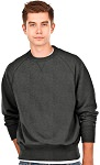 Crewneck Men's Fine French Terry Charcoal Mix 100% Cotton
