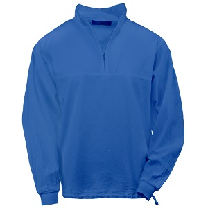 Ladies Honey-Komb Half Zip Lightweight Top Long Sleeves 100% Cotton Blue Bell