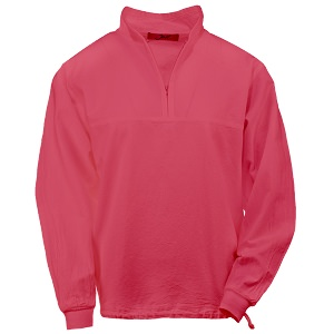 Ladies Honey-Komb Half Zip Sweatshirt Long Sleeves 100% Cotton Race Red
