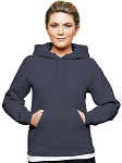 Ladies Hooded Pullover 80/20 Ombre Blue