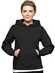 Ladies Hooded Pullover 80/20 Black