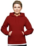 Ladies Hooded Pullover 80/20 Red
