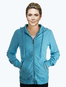Ladies Hooded Zipper 14oz 100% Maché  Cotton Tropical