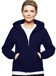 Ladies Hooded Zipper 80/20 Dark Navy
