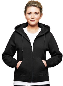 Ladies Hooded Zipper 80/20 Black