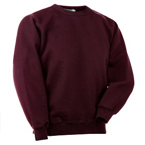 Crewneck True Burgundy 100% Cotton