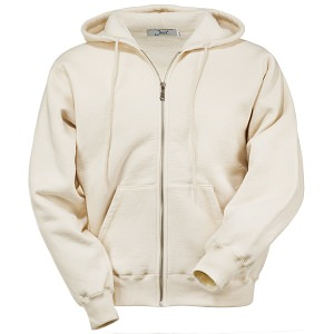 Hooded Full Front Zipper Natural 100% Cotton