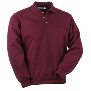 3 Button Polo Burgundy 100% Cotton