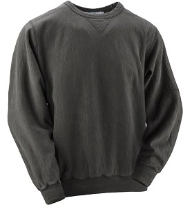 Crewneck V-notch 14oz 100% Maché  Cotton Black Sand