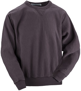 Crewneck V-notch 14oz 100% Maché  Cotton Burgundy Sand