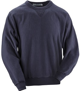Crewneck V-notch 14oz 100% Maché  Cotton Navy Sand