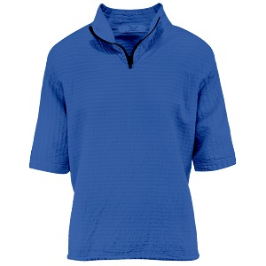 Ladies Mirage Cotton Half Zip Lightweight Top 100% Cotton Blue Bell
