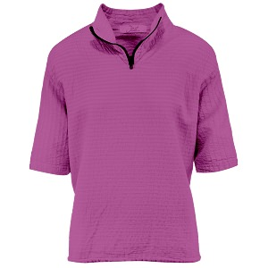 Ladies Mirage Cotton Half Zip Lightweight Top 100% Cotton Orchid