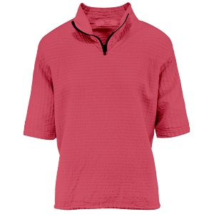 Ladies Mirage Cotton Half Zip Lightweight Top 100% Cotton Race Red