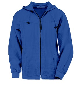 Ladies Bubble Cotton Full Zipper Hooded Jacket 100% Cotton Blue Bell