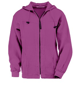 Ladies Bubble Cotton Full Zipper Hooded Jacket 100% Cotton Orchid