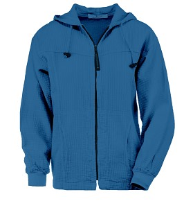 Ladies Bubble Cotton Full Zipper Hooded Jacket 100% Cotton Surf Blue  FINAL SALE