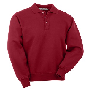 3 Button Polo Ruby Red 100% Cotton