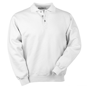3 Button Polo White 100% Cotton