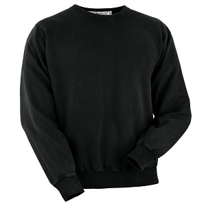 Crewneck Black 100% Cotton