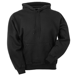 Hooded Pullover Black 100% Cotton