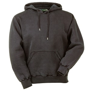 Hooded Pullover Black Sand 100% Cotton
