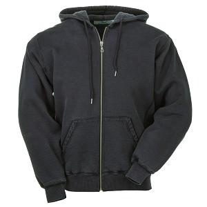 Hooded Full Front Zipper Charcoal 100% Cotton