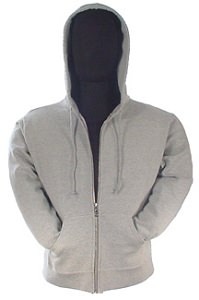 Ladies Sueded Fleece Hooded Pullover 80/20 Gray Mix