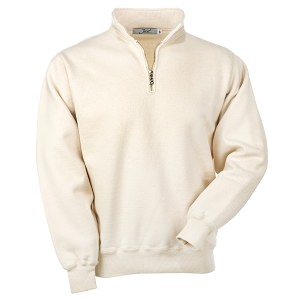 Zip Neck Natural 100% Cotton