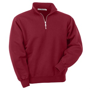 Zip Neck Ruby Red 100% Cotton