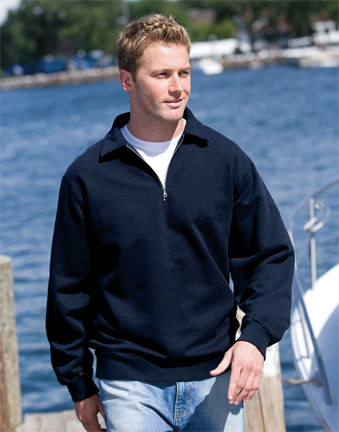 Men's Heavyweight Half Zip Neck 100% Cotton