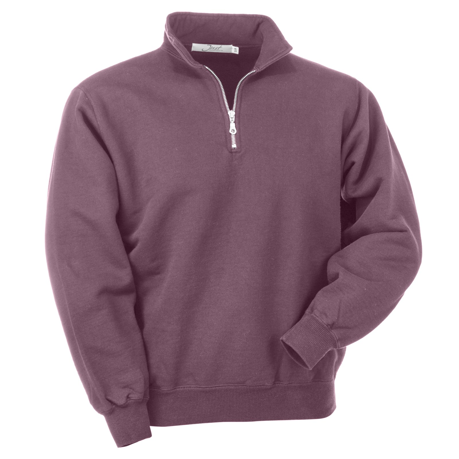 Zip Neck Burgundy Sand 100% Cotton