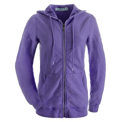 Ladies Hooded Zipper Maché  Terry 14oz  100% Cotton Violet