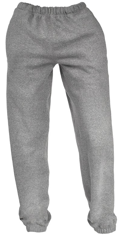 Unisex Sweatpants Fine French Terry 100% Cotton Gray Mix  FINAL SALE