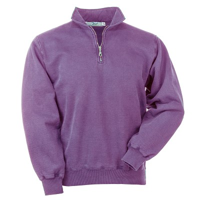 Zip Neck Plum Sand 100% Cotton