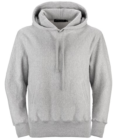 PRIVÉ Hoodie Gray with Side Rib 100% Cotton
