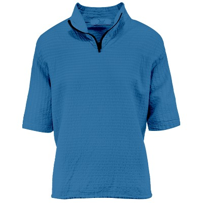 Ladies Mirage Cotton Half Zip Lightweight Top 100% Cotton Surf Blue