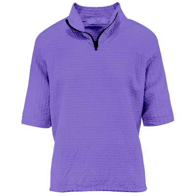 Ladies Mirage Cotton Half Zip Lightweight Top 100% Cotton Iris
