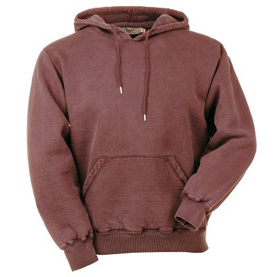 Hooded Pullover Burgundy Sand 100% Cotton