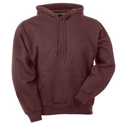 Hooded Pullover True Burgundy 100% Cotton