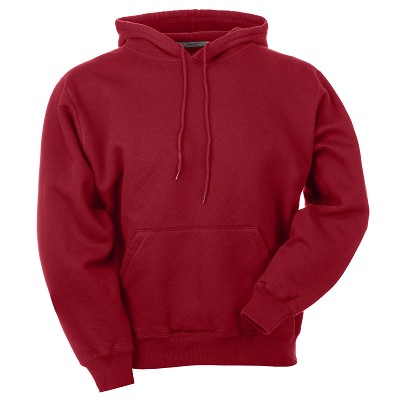 Hooded Pullover Ruby Red 100% Cotton
