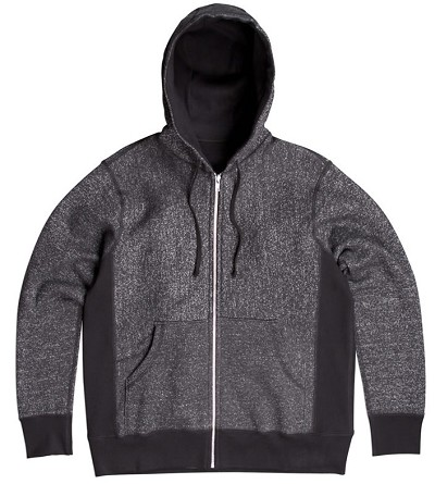 PRIVÉ Hooded Zipper Dark Speckle 85% Cotton