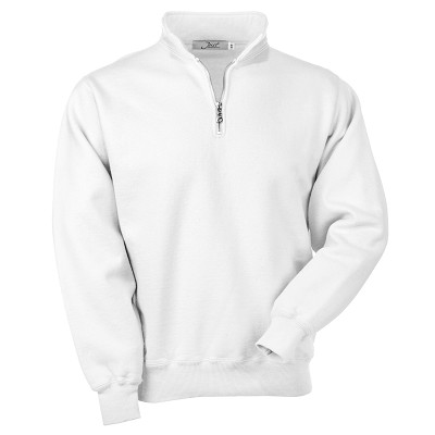 Zip Neck White 100% Cotton